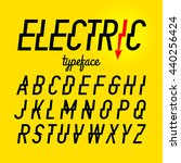 electric style typeface vector...   Shutterstock .eps vector #440256424
