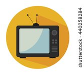 old tv isolated icon design ... | Shutterstock .eps vector #440258284