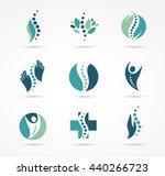 chiropractic  massage  back... | Shutterstock .eps vector #440266723