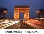 arc de triomphe   champs... | Shutterstock . vector #44026891
