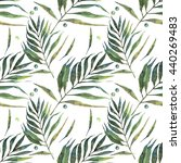 leaves  watercolor  pattern ... | Shutterstock . vector #440269483