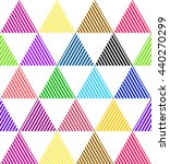 triangle pattern. beauty trendy ... | Shutterstock .eps vector #440270299