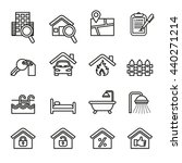 real estate thin icons. | Shutterstock .eps vector #440271214
