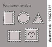 vector set of post stamp...   Shutterstock .eps vector #440275999