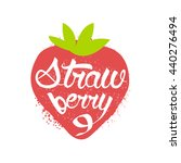 strawberry name of fruit... | Shutterstock .eps vector #440276494