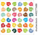 paper sale stickers collection  | Shutterstock .eps vector #440277688