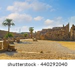 karnak temple is the most... | Shutterstock . vector #440292040