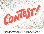 contest banner. | Shutterstock .eps vector #440293690