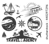 Vector Set Of Travel And...