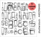 vector set of 35 cosmetic icons.... | Shutterstock .eps vector #440298400