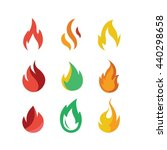 fire flame red vector icon set...   Shutterstock .eps vector #440298658