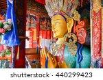 future buddha or maitreya... | Shutterstock . vector #440299423