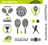 tennis icons. set of tennis... | Shutterstock .eps vector #440299963