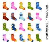 flat design colorful socks set... | Shutterstock .eps vector #440300206