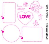 set of hand drawn love story... | Shutterstock .eps vector #440301136
