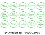 set of healthy food symbols.... | Shutterstock .eps vector #440303998