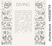 diving icons. underwater... | Shutterstock .eps vector #440308759