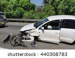 Stock photo schosse accident 440308783