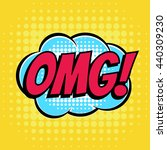 omg comic book bubble text... | Shutterstock .eps vector #440309230