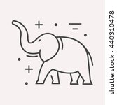 Logo Or Label Elephant. Line...