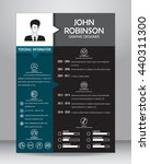 job resume or cv template... | Shutterstock .eps vector #440311300