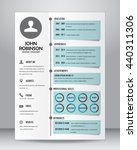 job resume or cv template... | Shutterstock .eps vector #440311306