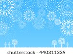 fireworks and nature | Shutterstock .eps vector #440311339