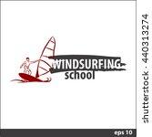 windsurfing vector illustration ... | Shutterstock .eps vector #440313274