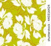 peony flowers. seamless pattern. | Shutterstock .eps vector #440316424