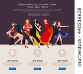 dancing people  dancer bachata... | Shutterstock .eps vector #440316628