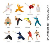 vector set of martial arts... | Shutterstock .eps vector #440320144