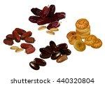 dried fruits. vector... | Shutterstock .eps vector #440320804