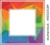 polygonal abstract border with  ... | Shutterstock . vector #440323189