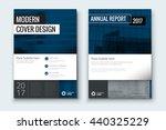 dark blue cover design for... | Shutterstock .eps vector #440325229