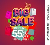 big sale discount 55  off... | Shutterstock .eps vector #440333638