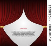 Red Theater Curtain Vector...