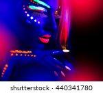 fashion model woman in neon... | Shutterstock . vector #440341780