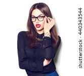 beauty sexy fashion model girl... | Shutterstock . vector #440343544