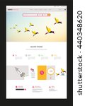 colorful website template for...