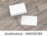 visiting cards mock up on... | Shutterstock . vector #440350789