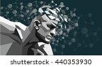 abstract man thinking  brain