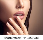 beauty fashion woman lips with... | Shutterstock . vector #440353933