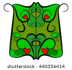 stained glass. window. green... | Shutterstock .eps vector #440356414