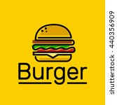 burger logo emblem colored... | Shutterstock .eps vector #440356909