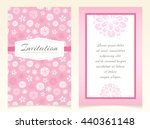delicate vector invitation... | Shutterstock .eps vector #440361148