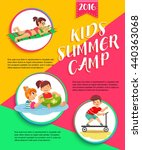 kids summer camp poster.... | Shutterstock .eps vector #440363068