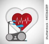 healthy lifestyle design.... | Shutterstock .eps vector #440366089