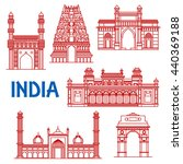 popular indian architecture... | Shutterstock .eps vector #440369188