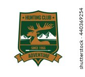 rocky mountain elk icon with... | Shutterstock .eps vector #440369254