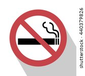 no smoking sign. vector... | Shutterstock .eps vector #440379826